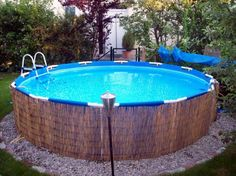 de - Build your own pool! We can help you with that!de - Build your own pool! We can help you with that!de - Build your own pool! We can help you with that! Above Ground Pool Landscaping, Backyard Pool Landscaping, Backyard Fences, Patio, Diy Fence, Fence Ideas, Build Your Own Pool, Piscine Diy, Cheap Pool