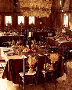 Rustic Brown and Wheat Wedding Decor | Wedding Style