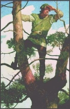"""nc wyeth king Arthur illustrations 