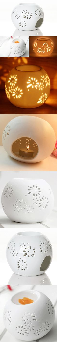 Quemador Incienso 2016 New Good Quality Japanese Incense Burner Ceramics Round Pierced White Oil Purify The Air Improve Free