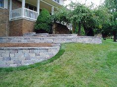 Michigan Landscaping Design Photo Gallery - Retaining Walls Superior Scape, Inc. MI/12 Block Retaining Wall.jpg
