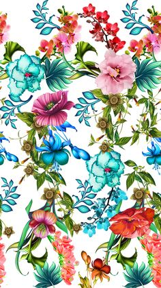Print - White Floral on Behance