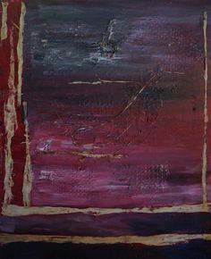 "Artist: Lijda Zuijderuijn; Acrylic on canvas. "" Deep purple"""