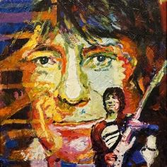 Jerry Blank - #RonnieWood - Original Acrylic on Canvas 24 x 30