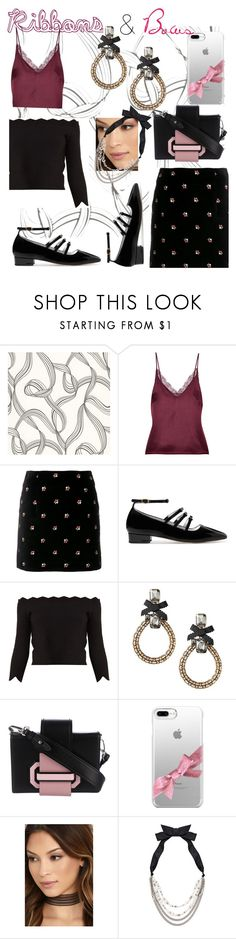 """""""Ribbons & Bows🎀"""" by mdfletch ❤ liked on Polyvore featuring Anine Bing, AlexaChung, Alexander McQueen, Prada, Casetify, LULUS, Lanvin and ribbons"""