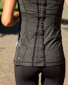Lululemon -- what's not to love about ruffle-y running gear?