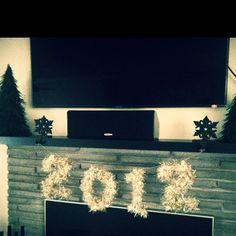 my DIY 2012 decoration! happy new year!