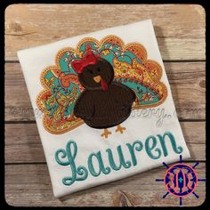 Girl's+Turkey+Applique+Shirt++Girl's+Thanksgiving+by+FDLEmbroidery
