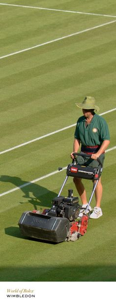 The courts are mown daily. #Wimbledon #RolexOfficial