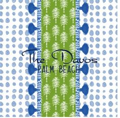 dots pattern blue with iomoi marrakech stripe