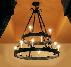 Iron Chandeliers In Mediterranean Style Lighting