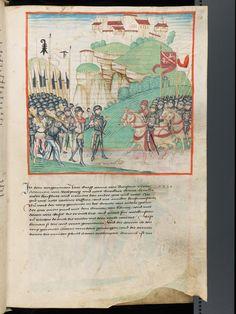 Bern, Burgerbibliothek, Mss.h.h.I.1, f. 199 – Diebold Schilling, Amtliche Berner Chronik, vol. 1