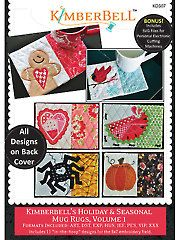 Quilt - Patterns - Quick & Easy Patterns - Table Toppers - Kimberbell's Holiday & Seasonal Mug Rugs, Vol. 1 Embroidery CD