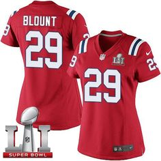 ea082c924  NikePatriots  29  LeGarrette  Blount Red Alternate  SuperBowlLI51 Women s  Stitched NFL Elite · Patriots GameJersey PatriotsNfl New England ...