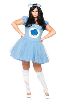 Being grumpy never looked so good! This Plus Size Care Bears Grumpy Bear Costume will transform you into the adorable cloud-dwelling critter.
