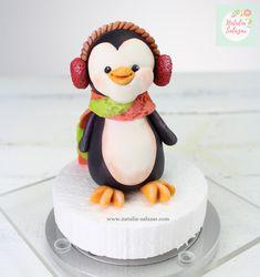 Penguin fondant cake topper| handmade Pokemon Cake Topper, Fondant Cake Toppers, Fondant Cupcakes, Rice Krispies, Rice Krispie Treats, Sugar Paste, Plastic Wrap, Safe Food, Penguin