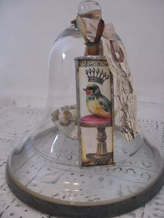 Repurposed Cloche (by anidbynoothername.....#bird #cloche