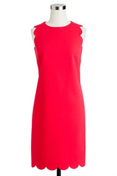 Found: The Perfect Work Dress  #refinery29  http://www.refinery29.com/sheath-dresses#slide8  J.Crew Scalloped Dress, $168, available at J.Crew.