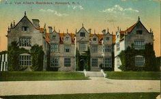 """Wakehurst' 1930's postcard, when it became the lavish scene of numerous Van Alen parties and entertainments."