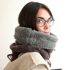 Snock® subtle multi-coloured mottled wool hooded cowl by jaffic