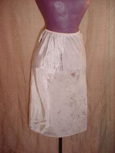 Vintage Warner's Half Slip w Lace sz Small Hand Dyed Taupe Tan J177 Swishy