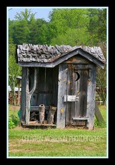 Outhouse w/storage by Christen McMakin Photography, via Flickr