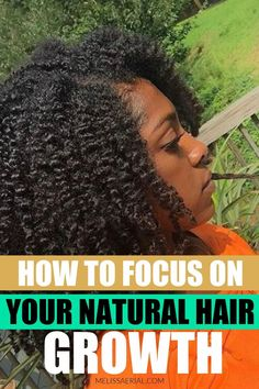Get all the tips you need to stay focus on your natural hair growth journey with daily encouragement. #naturalhair #hairgrowth Natural Hair Growth Tips, Natural Hair Types, Natural Hair Updo, Natural Hair Care, How To Grow Your Hair Faster, Long Hair Tips, Hair Length Chart, Hair Porosity, Daily Encouragement