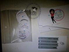 Cartão de visita + adesivos