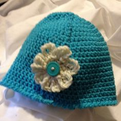 Toddler's Flowered Beanie by PapyrRags on Etsy