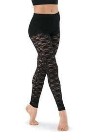 Lace Overlay Leggings