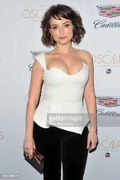 Actress Milana Vayntrub attends Cadillac's annual Academy Awards… Actress Milana Vayntrub attends Cadillac's annual Academy Awards celebration at Chateau Marmont on February 23 2017 in Los Angeles California Most Attractive Female Celebrities, Curvy Celebrities, Attractive Girls, Beautiful Celebrities, Beautiful Actresses, Gorgeous Women, Celebs, Celebrities Tattoos, Cadillac