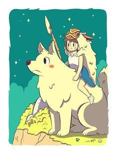 Mononoke Hime for an expo. Studio Ghibli Art, Studio Ghibli Movies, Mononoke Anime, Chibi, Dibujos Cute, Another Anime, Cute Cartoon Wallpapers, Sketch Inspiration, Hayao Miyazaki