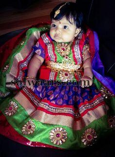 Gorgeous Baby in Benaras Work Lehenga - Indian Dresses