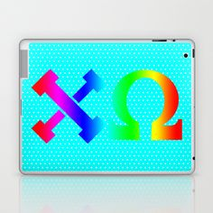 Chi Omega,  all Colors Laptop & iPad Skin by seb mcnulty - $25.00