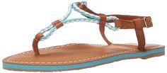 Polo Ralph Lauren Kids Alexis Neo Turq EVA/Braid Thong T-Strap Sandal (Little Kid/Big Kid) -- Additional info  : Girls sandals