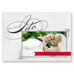 """we said """"I do"""" wedding announcement. choose any color too!"""