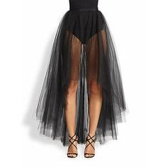 ML Monique Lhuillier Women's Tulle Overlay Skirt