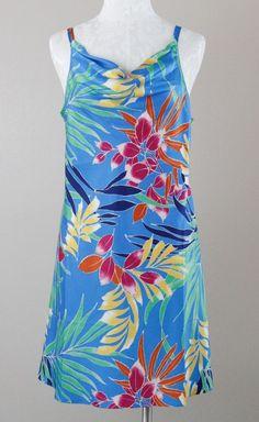 N by Josie Natori Tropical Floral Chemise Nightgown Polyester Charmeuse L NWT #Natori #BabydollChemise
