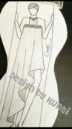 Dress Sketches, Fashion Sketches, Vs Fashion Shows, Designer Wear, Illustrations, T Shirts For Women, Drawings, Beach, Cute