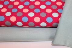 Tissu-paquets-2-x-50x150-1-00-baumwolljersey-Dots-rouge-50-cm-Bund