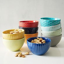 Textured Dip Bowls, these could be cute with my fiestawear