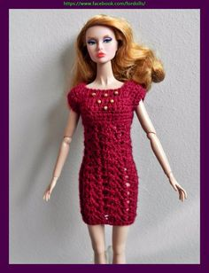 "Poppy Parker  / FR dolls 12"" clothes - dress (not doll)"