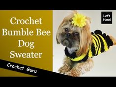 Crochet Dog Sweater Pattern - (Left Hand) Tutorial - YouTube