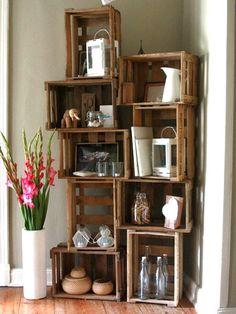 decoracion con cajas de madera de frutas - Buscar con Google