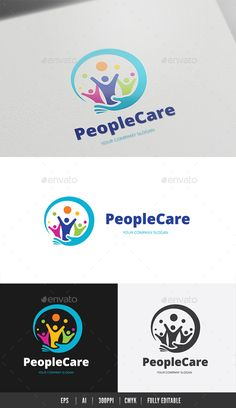 People Care Logo #connect #social • Download ➝ https://graphicriver.net/item/people-care-logo/18486969?ref=pxcr