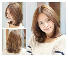 ready for spring~ Medium Length Hair Cuts With Layers, Medium Hair Cuts, Short Hair Cuts, Medium Hair Styles, Japanese Short Hair, Asian Short Hair, Short Straight Hair, Mid Hairstyles, Haircuts For Medium Hair