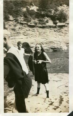 Vintage Photo..Out For A Splash, 1920's Original Found Photo, Vernacular Photography by iloveyoumorephotos on Etsy
