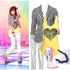 A fashion look from February 2011 featuring block tank, laced up shoes and vintage necklace. Browse and shop related looks. Cece Shake It Up, Teenager Outfits, Outfits For Teens, Tween Fashion, Fashion Tips, Fashion Ideas, Celebrity Outfits, Zendaya, Lace Up Shoes