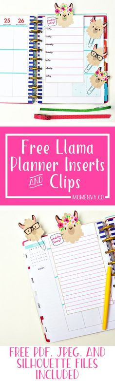 Free Llama Planner Inserts & Planner Clips - Free…