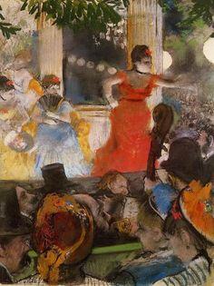 Edgar Degas - Cafe Concert At Les Ambassadeurs